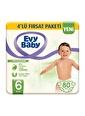 Evy Baby Evy Baby 6 Numara XL 20'li 4 Paket Bebek Bezi Renkli